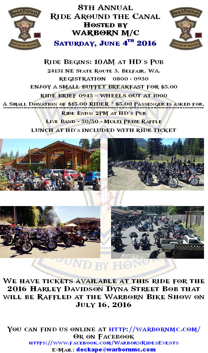 8th Annual Warborn M/C Ride Around the Canal